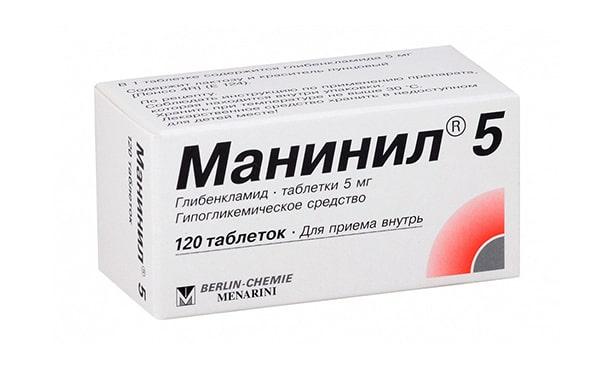 Таблетки Манинил